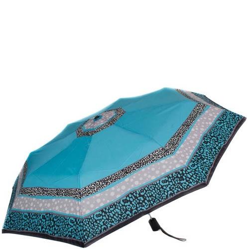 Зонт-полуатомат Doppler женский 730165G1703 голубого цвета с точечным узором, фото