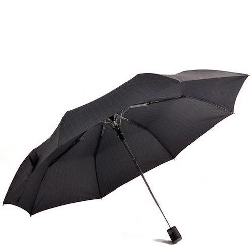 Зонт-полуавтомат Doppler Carbon антиветер в 3 сложения черный в полоску, фото