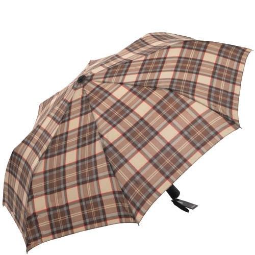 Зонт-полуатомат Doppler 730168 коричневого цвета в клетку, фото