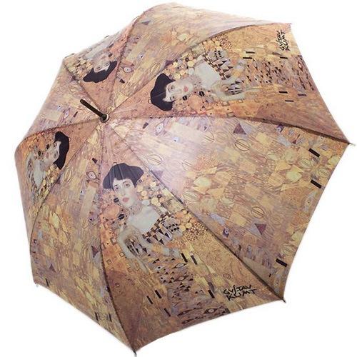 Зонт-трость Doppler Art Collection автоматический с репродукцией Климта Адель Блокбауэр, фото