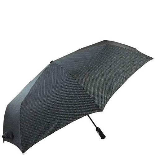 Зонт-автомат Doppler мужской модель 743067 черного цвета в полоску, фото