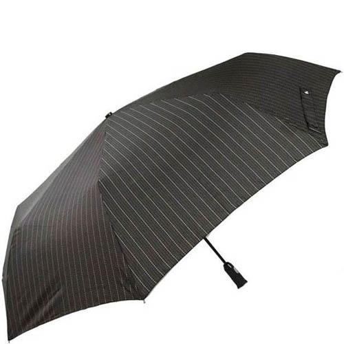 Зонт-автомат Doppler мужской модель 743067 черного цвета с коричневыми полосами, фото