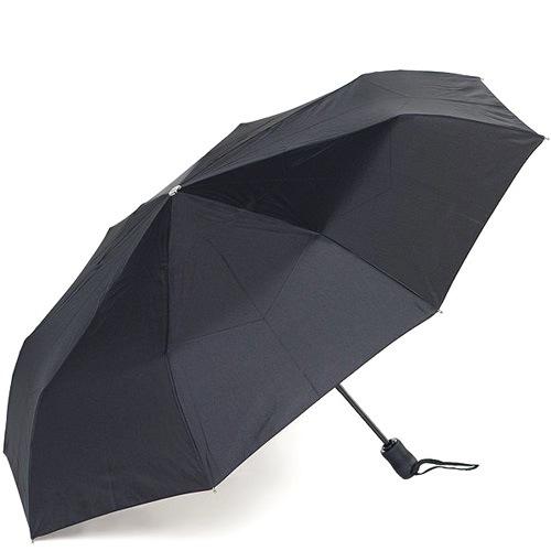 Зонт-автомат Doppler в 3 сложения с 8 спицами черный, фото