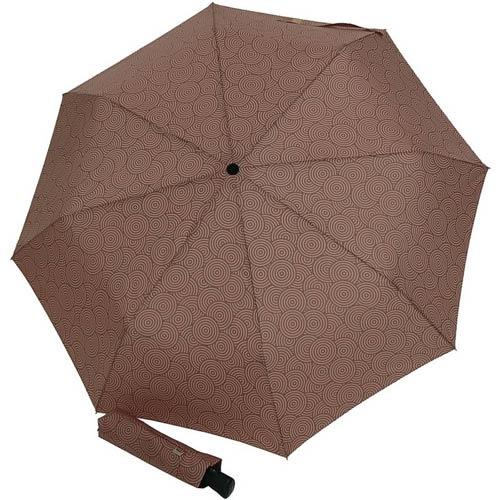 Зонт-автомат Doppler женский модель 744765G коричневый с узором, фото