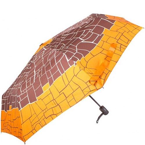 Зонт-полуавтомат Doppler Carbon Steel антиветер в 3 сложения коричнево-оранжевый, фото