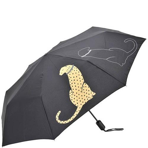 Зонт-автомат Doppler женский модель 744765P с изображением леопарда, фото