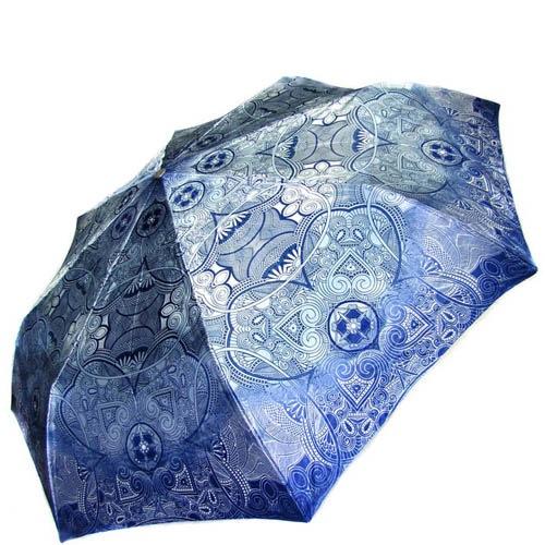 Зонт-автомат Doppler женский модель 74665GFGA сине-голубой с узорами, фото