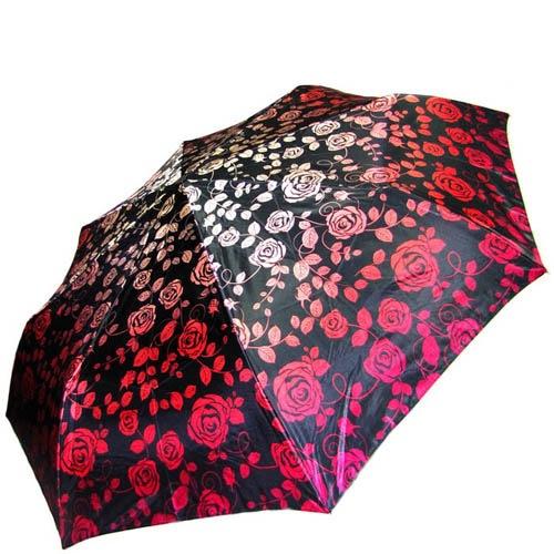 Зонт-автомат Doppler женский модель 74665GFGF18 красно-черный с узорами, фото