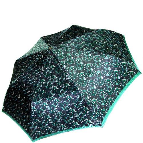 Зонт-автомат Doppler женский модель 74665GFGG18 темно-зеленый с узорами, фото