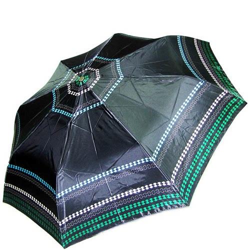 Зонт-автомат Doppler женский модель 74665GFGG18 темно-зеленый с узором по краю, фото