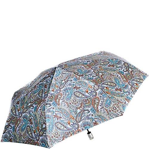 Зонт-автомат Doppler женский модель 74665GFGPE синего цвета с узором пейсли, фото