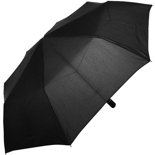 Зонт-полуавтомат Doppler Carbon антиветер в 3 сложения черный с увеличенным куполом, фото