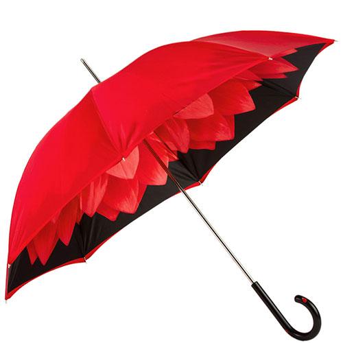 Красный зонт-трость Pasotti с божьими коровками на ручке, фото