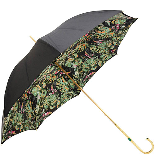 Зонт-трость Pasotti с гравировкой и камнями на ручке, фото