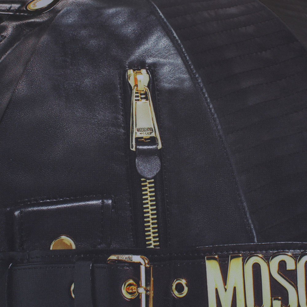 Зонт-трость Moschino с рисунком в виде замочков