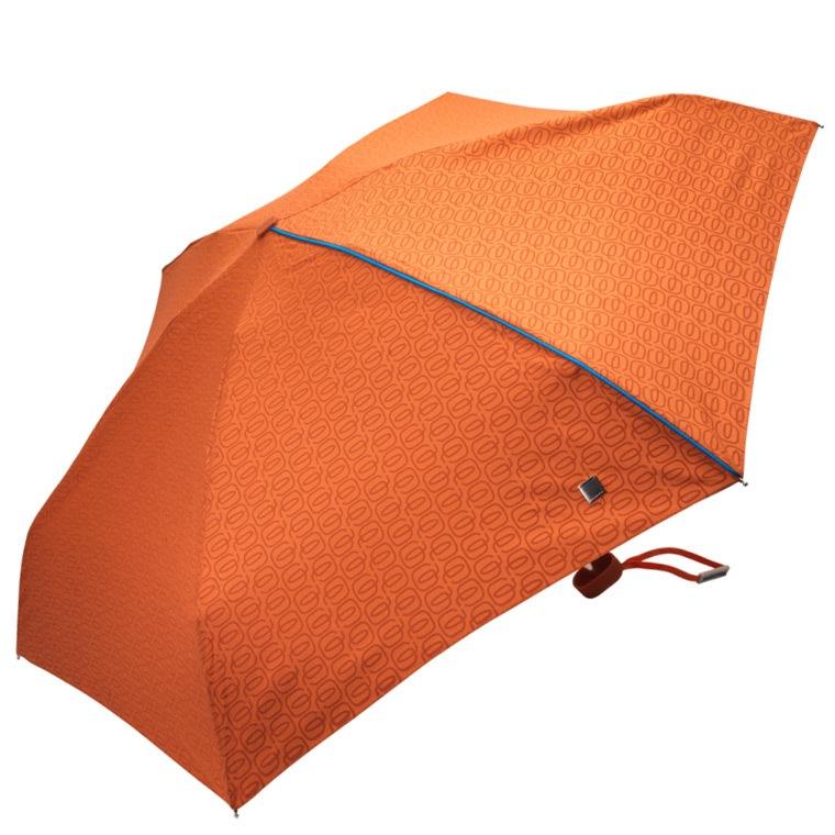 Зонт Piquadro оранжевый механический