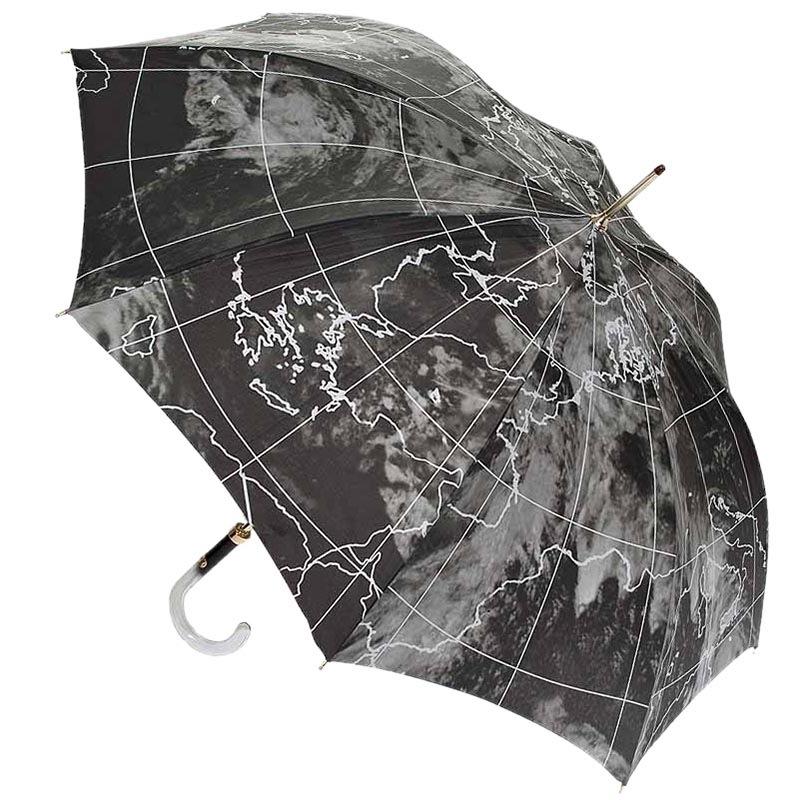Дизайнерский зонт-трость Baldinini с рисунком грозового неба и полуавтоматическим механизмом
