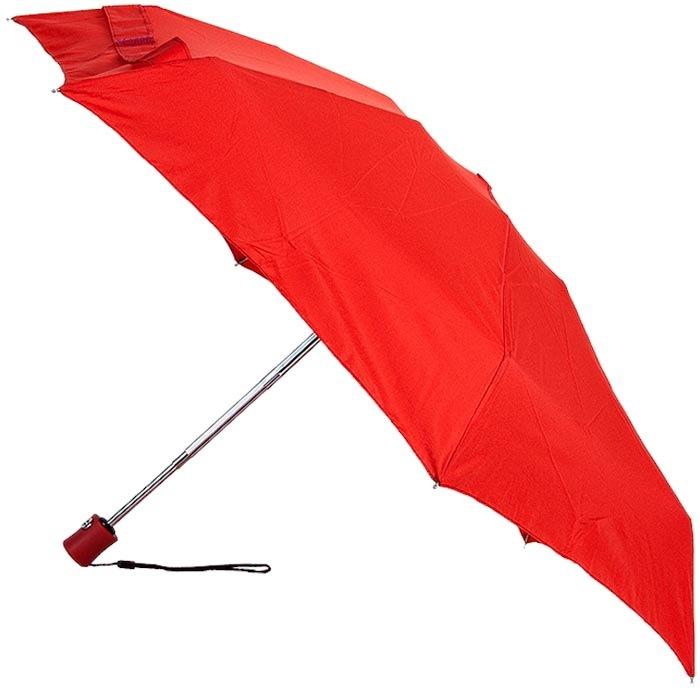Легкий и компактный зонт-автомат Baldinini красного цвета