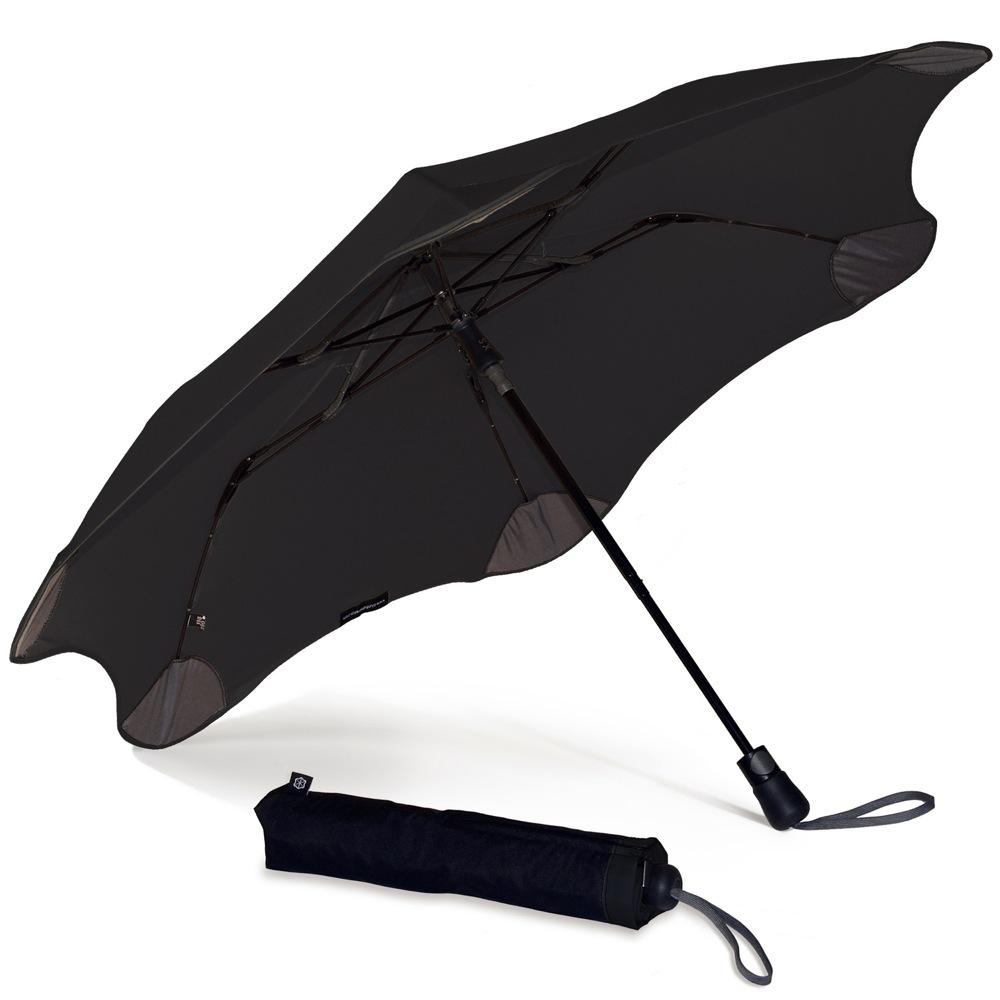 Зонт Blunt XS Metro черный полуавтоматический в два сложения