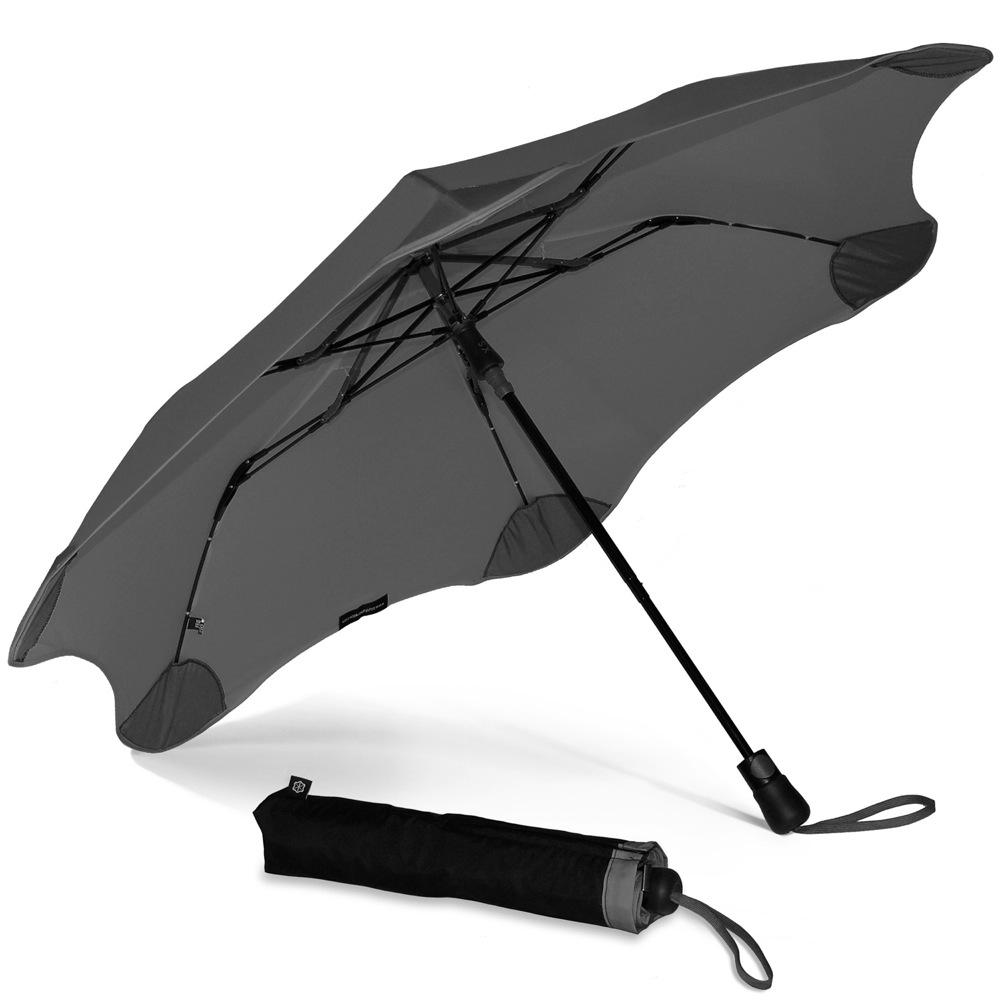 Зонт Blunt XS Metro темно-серый полуавтоматический в два сложения