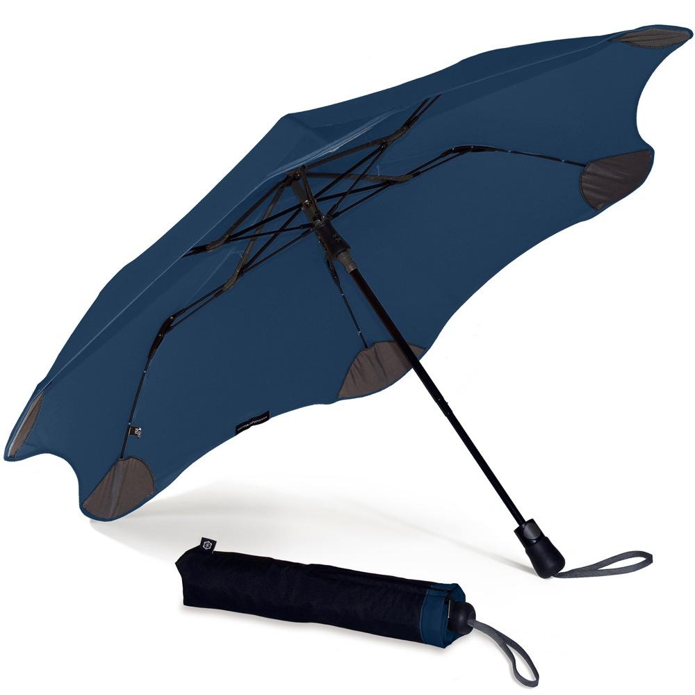 Зонт Blunt XS Metro темно-синий полуавтоматический в два сложения