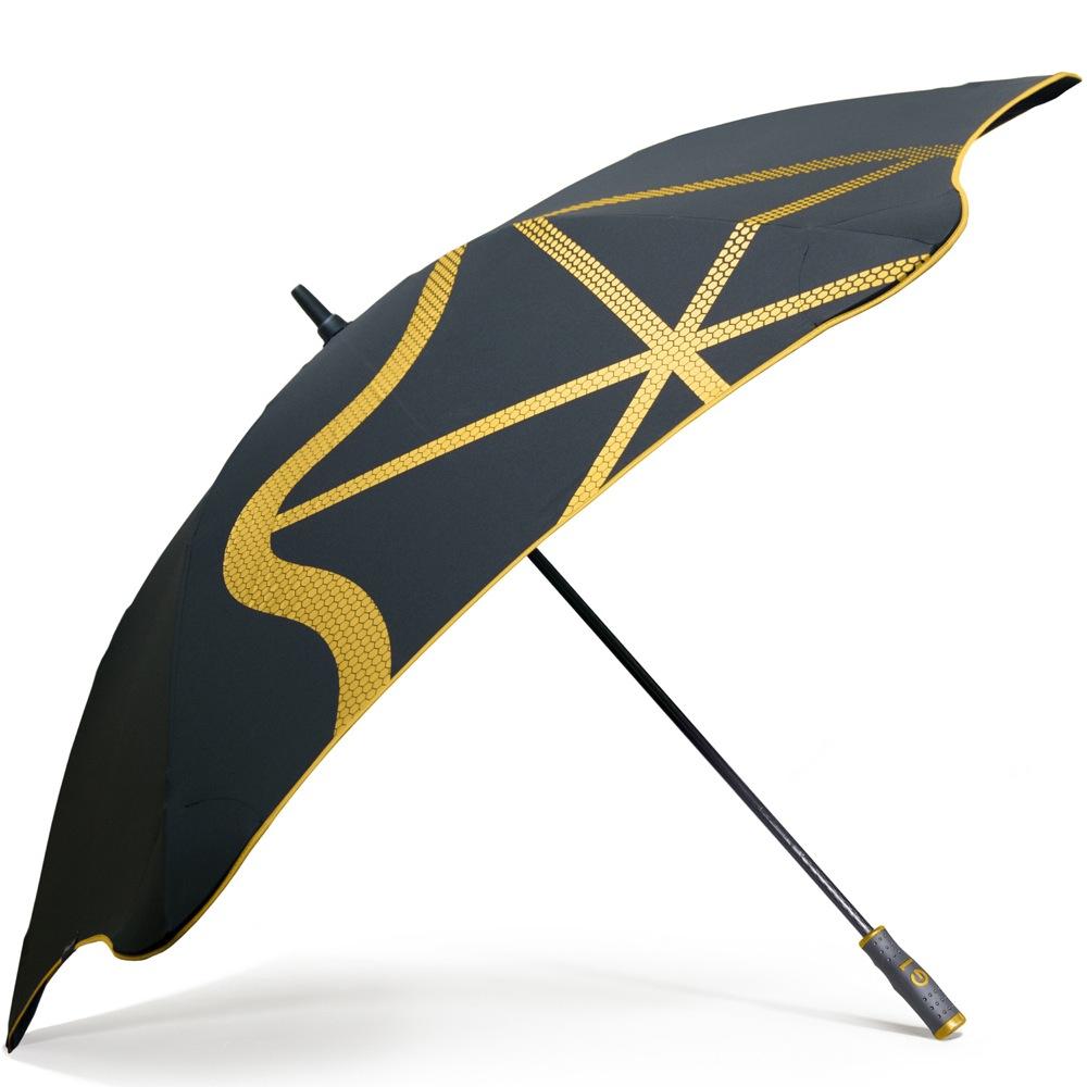 Зонт-трость Blunt Golf G1 черно-желтый с большим куполом