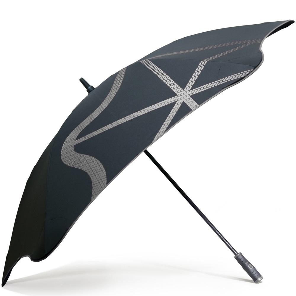 Зонт-трость Blunt Golf G1 черно-серый с большим куполом