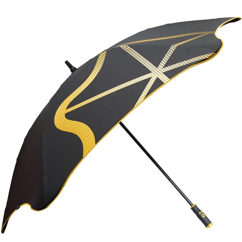 Зонт-трость Blunt Golf G2 черно-желтый с очень большим куполом