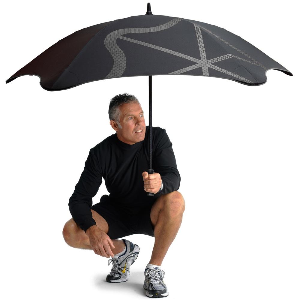 Зонт-трость Blunt Golf G2 черно-красный с очень большим куполом