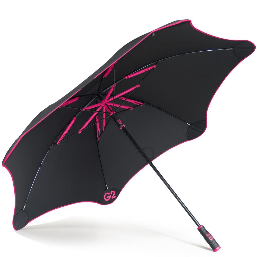 Зонт-трость Blunt Golf G2 черно-розовый с очень большим куполом