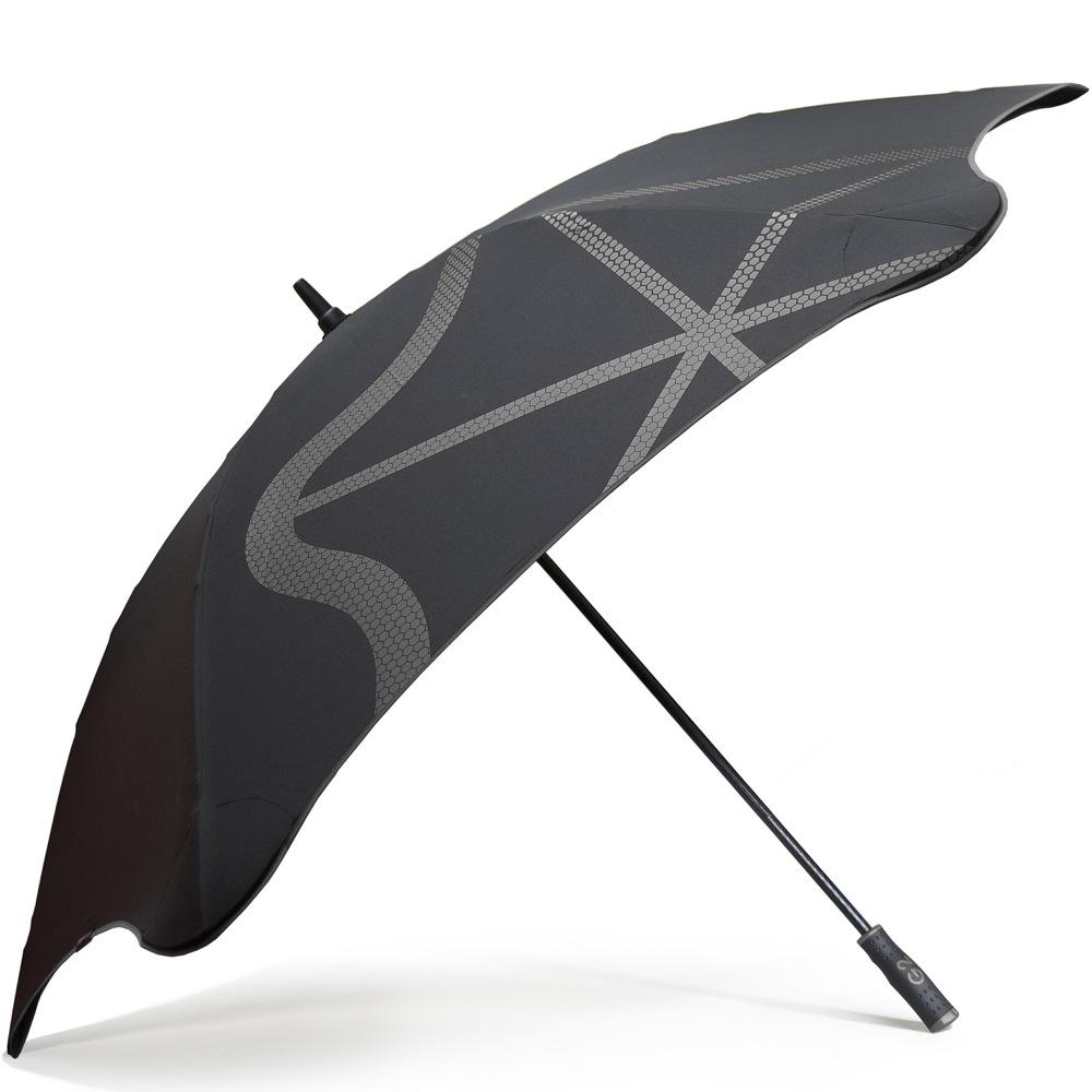 Зонт-трость Blunt Golf G2 черно-серый с очень большим куполом