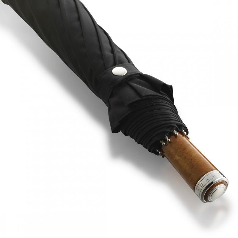 Зонт-полуавтомат Dalvey Folding черного цвета