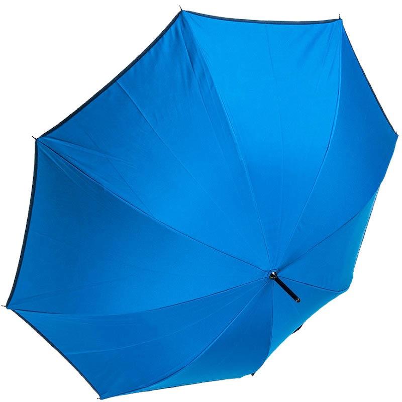 Синий женский зонт-трость Ferre с принтом на внутренней части купола и тефлоновой пропиткой