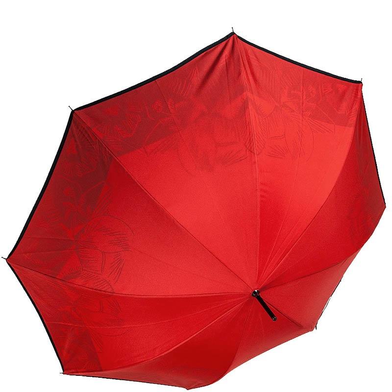 Двухсторонний зонт-трость Ferre в красно-черных цветах с уплотненным каркасом
