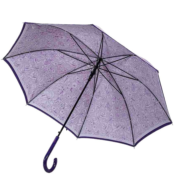 Двухсторонний зонт-трость Ferre фиолетового цвета с полуавтоматическим механизмом