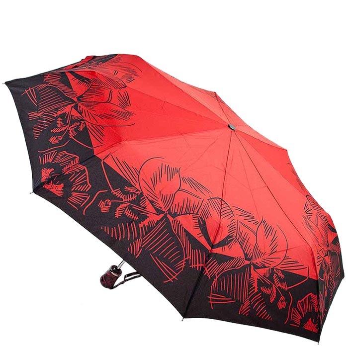 Черно-красный прочный зонт Ferre с автоматическим механизмом
