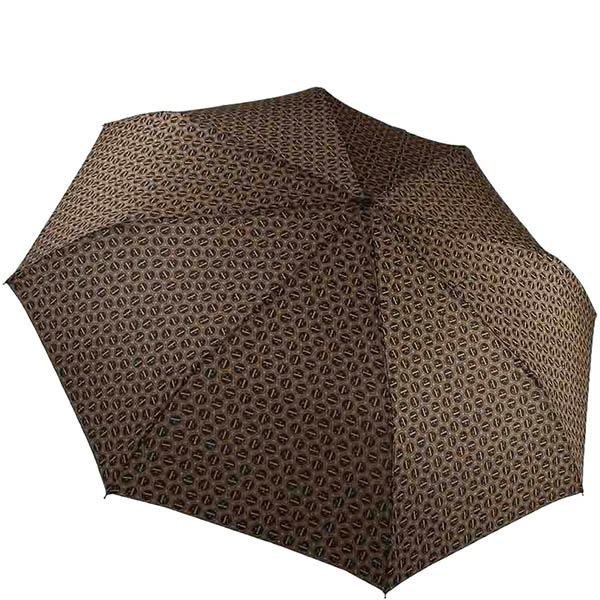 Большой зонт-автомат Ferre коричневого цвета с мелким принтом