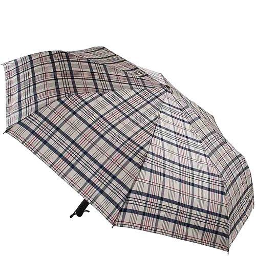 Клетчатый зонт Ferre с автоматическим механизмом и сдержаным принтом
