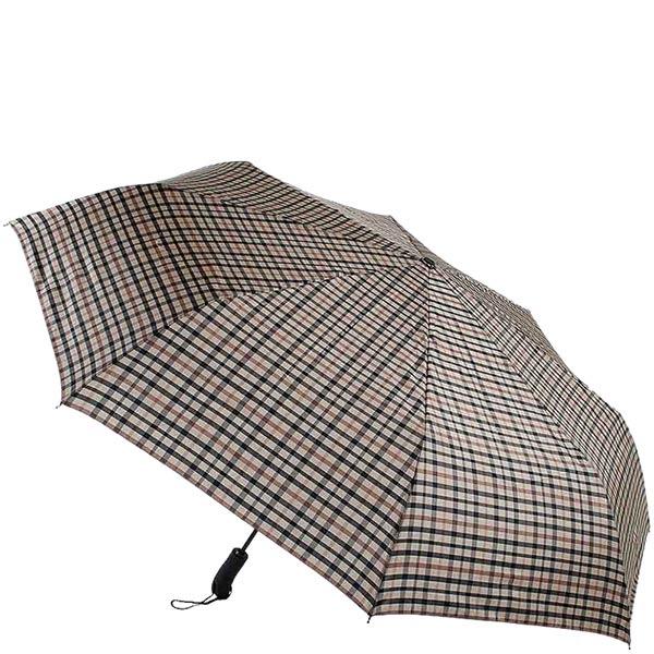 Большой клетчатый зонт-автомат Ferre с клетчатым узором