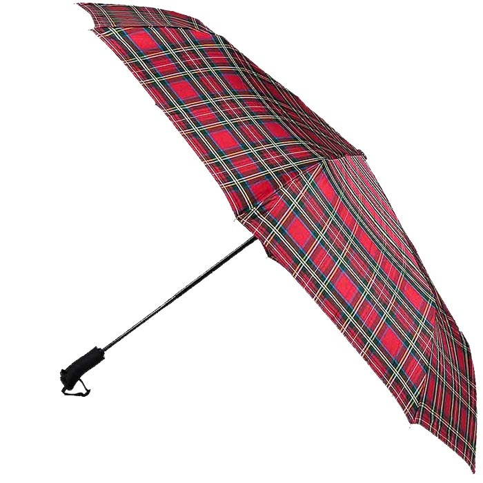 Большой красный клетчатый зонт Ferre с автоматическим механизмом