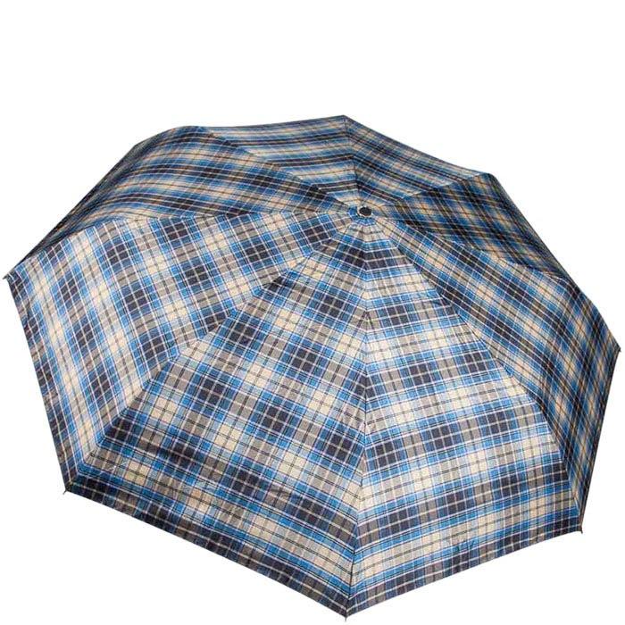 Большой зонт-автомат Ferre в синюю клетку унисекс