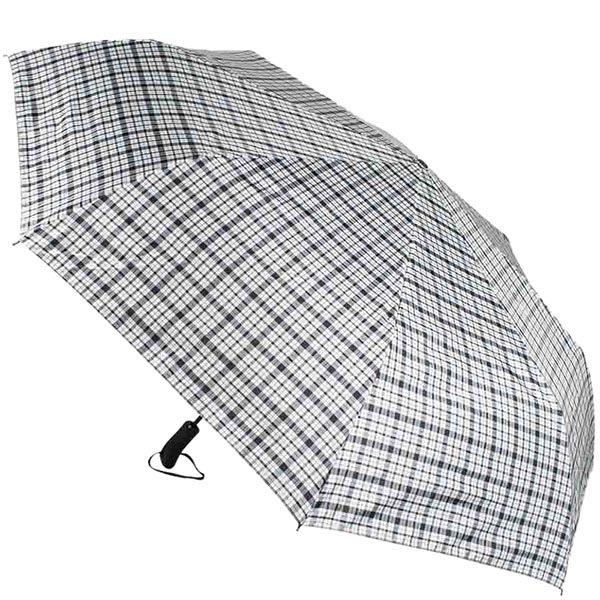 Большой клетчатый зонт Ferre с системой антиветер и автоматическим механизмом
