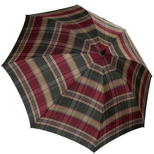 Большой мужской зонт-трость Ferre в крупную клетку с укрепленным каркасом и куполом