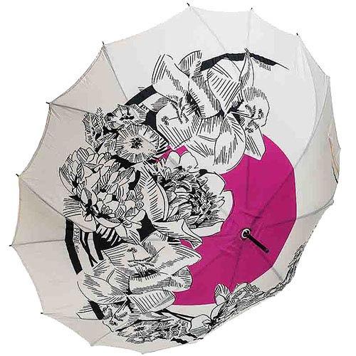 Дизайнерский зонт-трость Ferre с прочным полуавтоматичеким механизмом