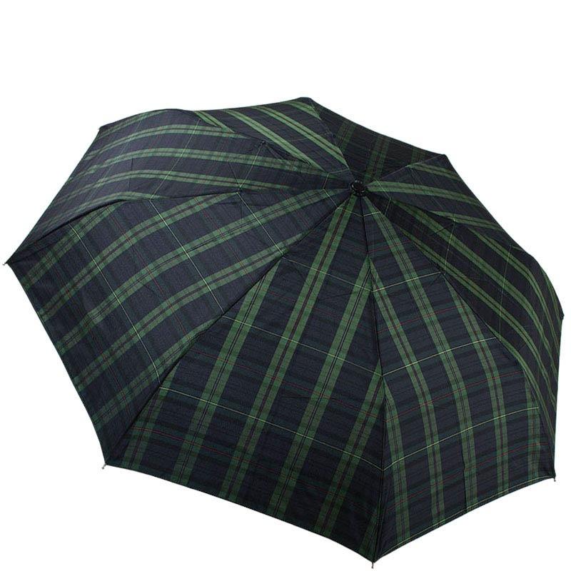 Темный клетчатый зонт Ferre с автоматическим механизмом