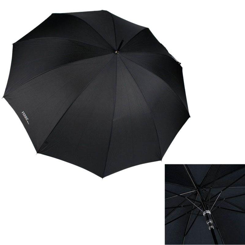 Большой зонт-трость Ferre на 10 спиц черного цвета
