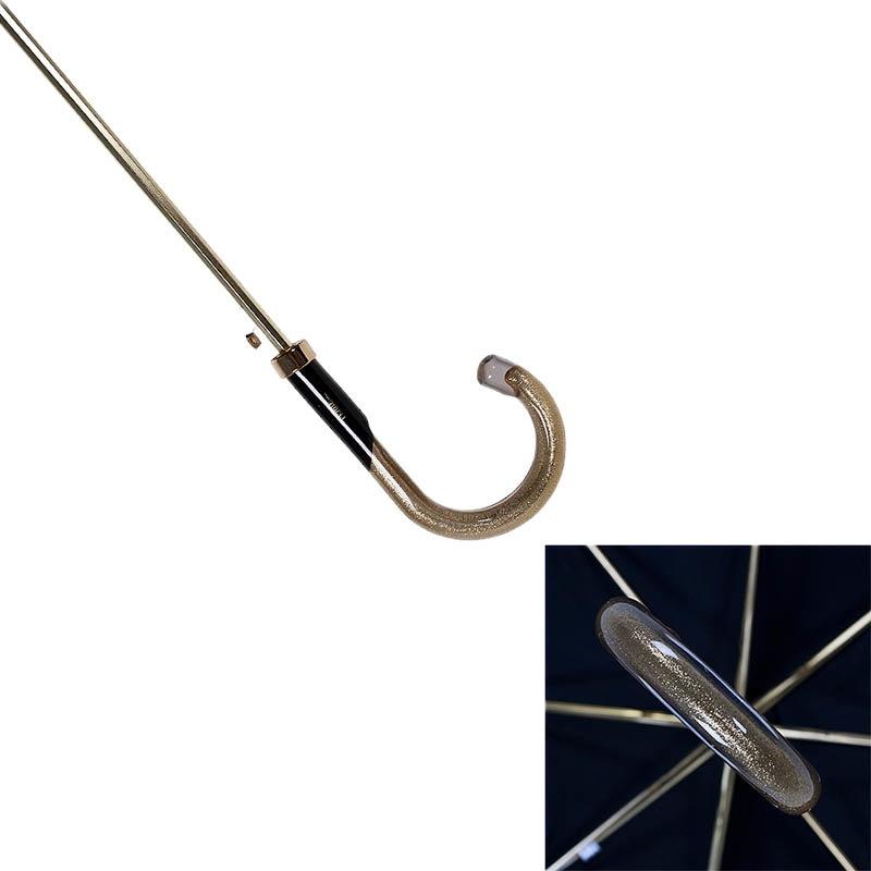 Золотистый полуавтоматический зонт-трость Ferre в фирменной упаковке