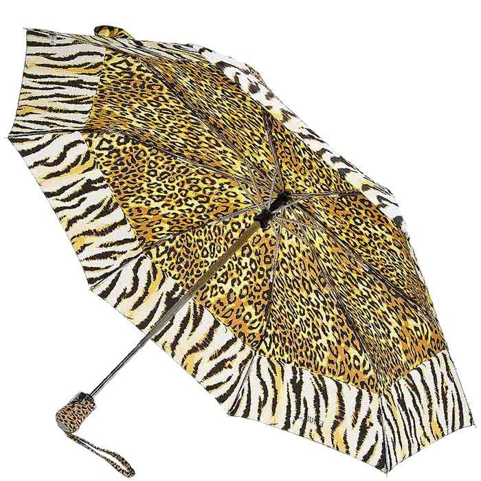 Автоматический зонт Ferre с леопардовым и тигровым принтом