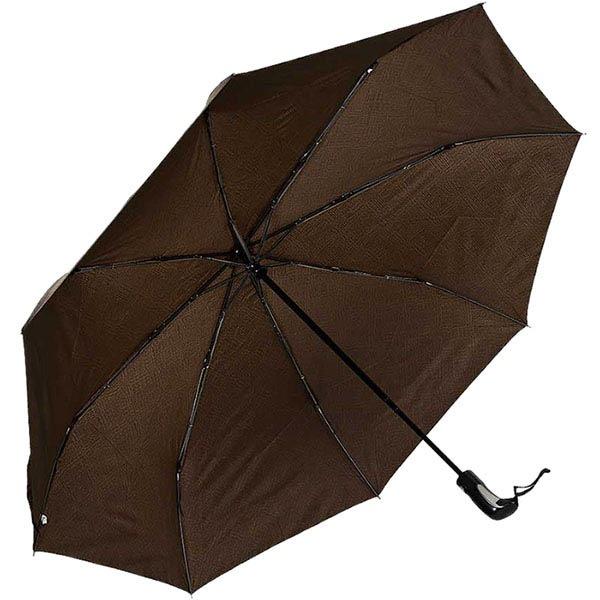 Зонт-автомат Ferre коричневого цвета с мелким принтом