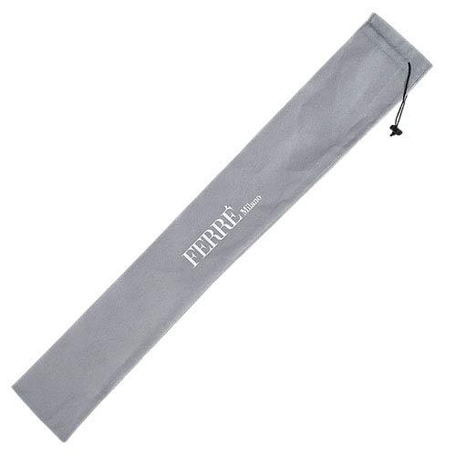 Большой зонт-автомат Ferre черного цвета в тонкую полоску
